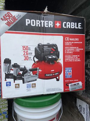 Porter cable air compressor kit and circle saw for Sale in Philadelphia, PA
