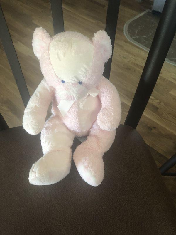 Bear stuffed animal light pink