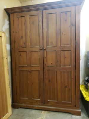 Antique wooden armoire for Sale in Canoga Park, CA