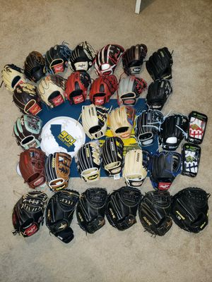 Gloves Wilson Rawlings All-Star Marucci ( A2000, A2K, Pro Preferred, Heart of the Hide) for Sale in Riverside, CA