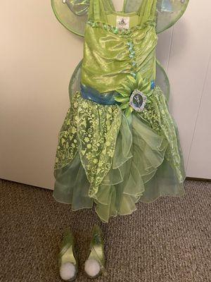 Disney Tinkerbell Costume with wings and shoes for Sale in Los Angeles, CA
