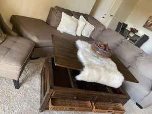 Altari Sofa Chaise Sectional includes two extra chairs and table for Sale in Chula Vista, CA