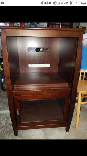 Wood media cabinet for Sale in Selma, NC