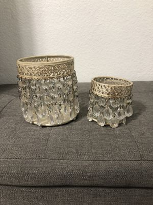 Makeup brush holder or candle holders for Sale in Dallas, TX
