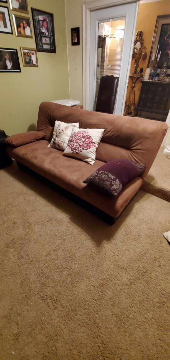 Futon. Couch and sofa bed.