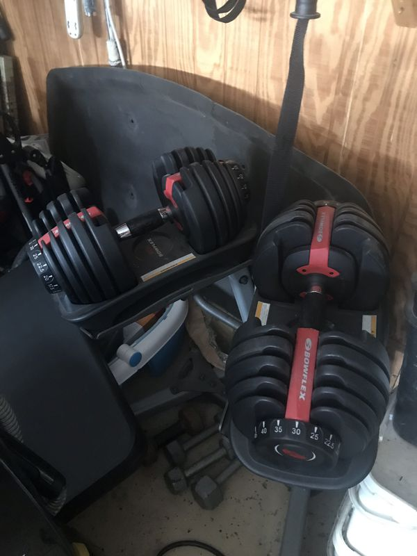 Bowflex select weight with stand