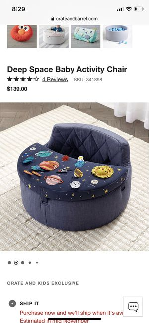 Crate and barrel activity chair for Sale in Seattle, WA
