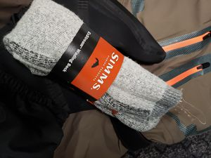 Froggtoggs waders and Simms socks for Sale in Tacoma, WA