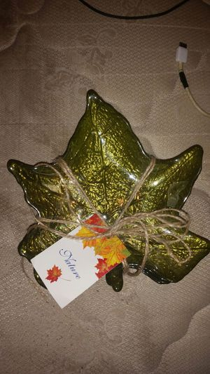 Homemade glass leaf plates for Sale in Cleveland, OH