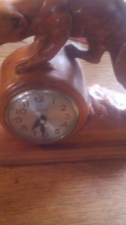 Carved Wood Sessions Clock. for Sale in Portland,  OR