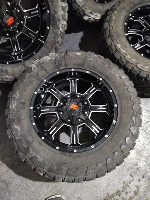 New 20 off road rims with Toyo open country tires for Sale in Las Vegas, NV