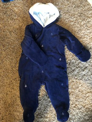 Anchor sailor baby clothes 12 months new for Sale in Portland, OR
