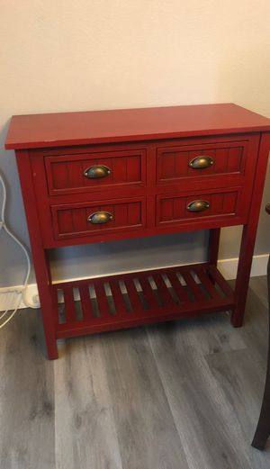 Bailey Bead Antique Red Console Table for Sale in Ceres, CA