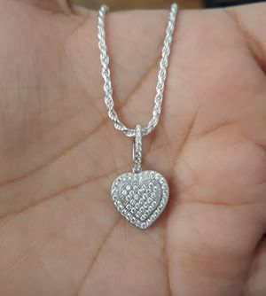 925 sterling silver/plata Beautiful ❤ Heart Necklace for Sale in Los Angeles, CA