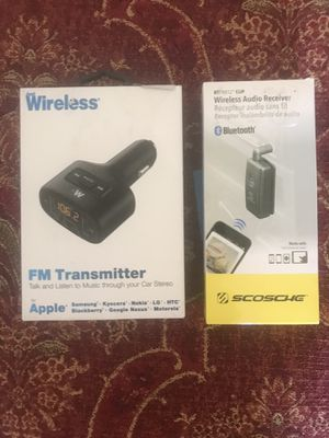 FM Transmitter and Bluetooth Wireless Audio Receiver for Sale in Scotland, TX