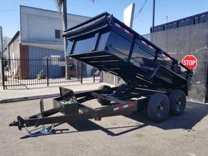 8-1/2 x 14 x 2 HD Dump Trailer 14k GVWR for Sale in Palmdale, CA