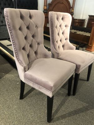 Set of 2 pink blush dining chairs for Sale in Bethesda, MD