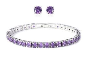 Simulated Purple Diamond Earrings and Bracelet for Sale in FAIRMOUNT HGT, MD