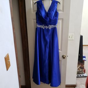 Long Blue Dress with Rhinestone Detail for Sale in Chesapeake, VA