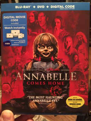 Annabelle Comes Home!! Blu-ray, Digital, DVD for Sale in Decatur, TX