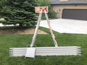 Little Giant Ladder With work platform and wall rack for Sale in Sandy, UT