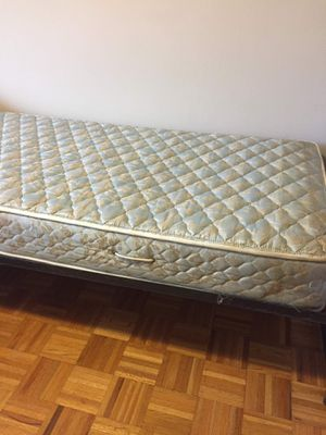 Twin mattress + bed frame for Sale in New York, NY
