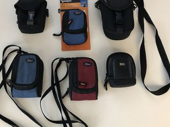 Lot of 6 Case Logic, Ambico, and Lowepro (Ridge 10,20) Camera Cases for Sale in Portland,  OR