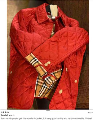 Authentic Burberry Frankby 18 Quilted Jacket Size XS for Sale in San Francisco, CA