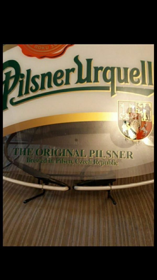 Never Used- Today $250.00 obo - Neon Pilsner Urquell Neon Beer Sign. Bought years ago for $416.04. Sells in some places now for $594.99.