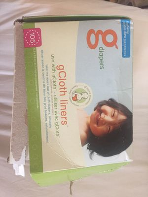 GCloth cloth diaper liners flushable brand new for Sale in Brookfield, IL