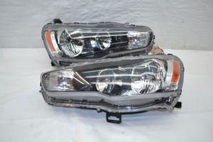 08-15 Mitsubishi Lancer EvoX Evo X OEM Left Driver Right Passenger Halogen Headlight set. for Sale in Hialeah, FL