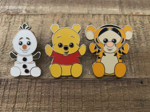 Disney Wishables Olaf, Pooh, Tigger Pins NEW for Sale in Sunnyvale, CA