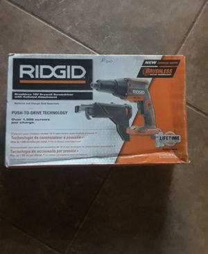 RIDGID brushless 18V drywall screwdriver for Sale in Sacramento, CA
