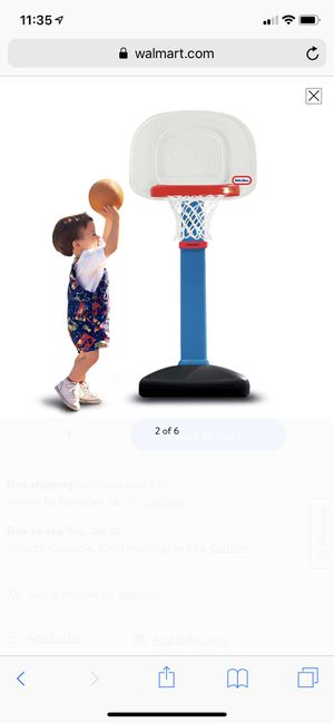 Hoops Jr. Basketball Set with Center pole fixture adjusts rim heights for Sale in Pittsburgh, PA