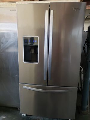 BIG BARGAINS!! LOWEST PRICES! Refrigerator Fridge Whirlpool Stainless Steel #1673 for Sale in Fontana, CA