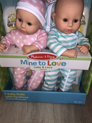 Mine to Love Twins Luke & Lucy Baby Dolls new for Sale in Las Vegas, NV