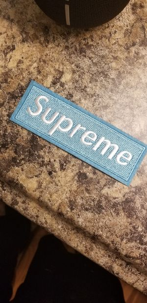 Supreme Iron on patch brand new for Sale in Chapel Hill, NC