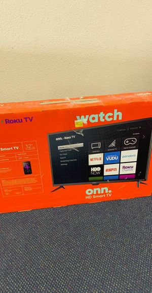 Onn Smart Tv 32 inches!! All new with warranty! Open Box TV! ROKU control! 0PI for Sale in Dallas, TX