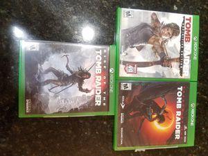 Xbox One Tomb Raider Bundle 3 games for Sale in Menifee, CA