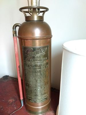 Antique fire extinguisher lamp for Sale in Seattle, WA