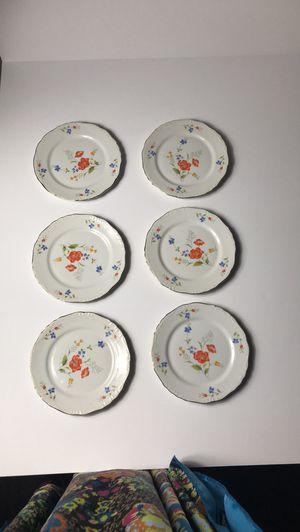 6 Floral Dessert Plates for Tea Set Made in Japan for Sale in Clarksville, TN