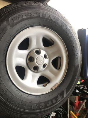 Jeep wrangler wheels and tires for Sale in Centreville, VA