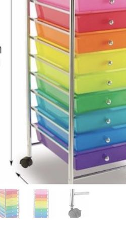 New! 10 Multi Colors Or Clear Drawer Rolling Cart for Sale in Lawndale,  CA