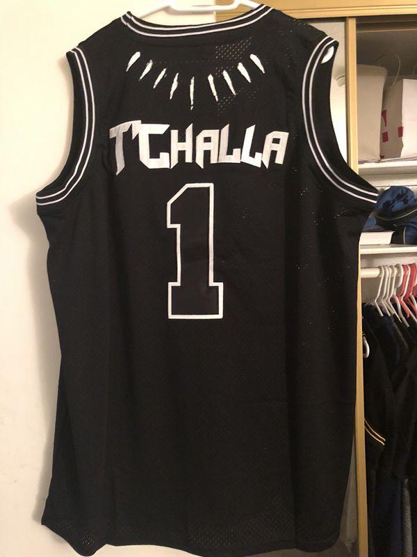 3e9ef35f8 Limited Edition Black Panther Wakanda T Challa Basketball Jersey ...