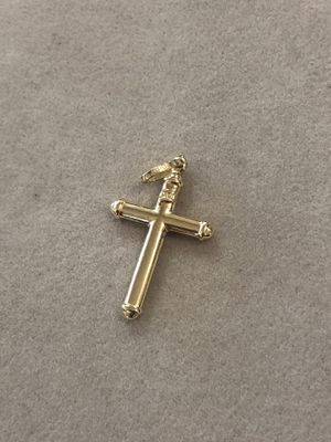 14K Yellow Gold Classic Jesus Cross Pendant Charm for Sale in Monterey Park, CA