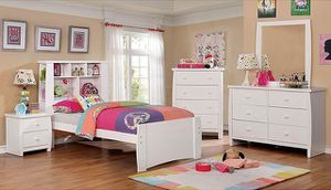 Marlee Youth Bookcase Bedroom Set (White) for Sale in Las Vegas, NV