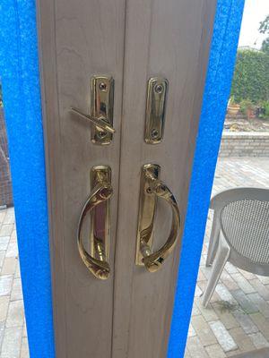 Andersen bronze double sliding door handles (4 panel) for Sale in Costa Mesa, CA