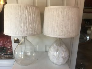 White matching lamps - fillable base for Sale in Escondido, CA