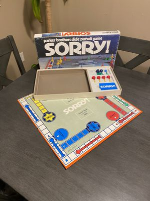 Sorry board game complete vintage for Sale in Beaverton, OR