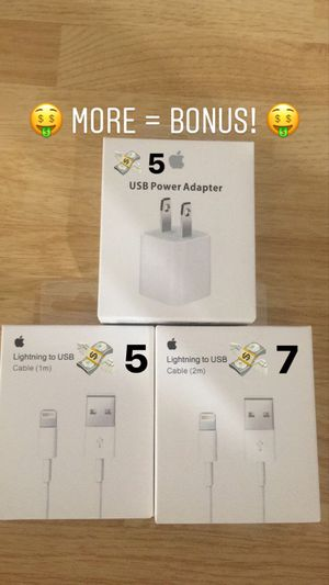 (NEW) 1M 2M Lightning Charger Cable 3 in 1 (Micro, USBC, Lightning) Wall Car Adapter USB Apple Family Holiday Gift Stuffing Mom Dad Grandma Grandpa for Sale in Rosemead, CA